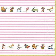Caspari 13020°C Baby Pink Fabric/Paper Towels