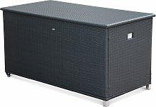 CASSAPANCA rattan garden storage box with handle