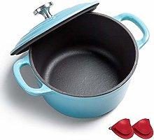 Casserole Enamel Coated Cast Iron Cookware Pot,