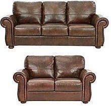 Cassina Italian Leather 3 Seater + 2 Seater Sofa