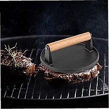 Cast Iron Bacon Press Round Steak Meat Grill