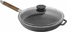Cast Iron Frying Pan with Glass Lid and Detachable