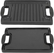 Cast Iron Griddle Pan, Non-Stick Grill Plate