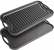 Cast Iron Griddle Plate for Gas Hob and BBQ