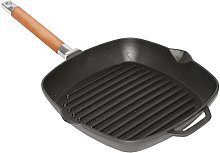 Cast Iron Grill Pan 24, 26, 28 cm Removable Handle