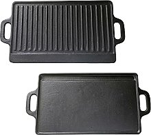 Cast Iron Reversible Griddle Pan Electric Gas