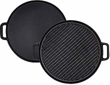 Cast Iron Reversible Grill/Griddle,12-Inch Double
