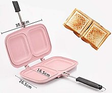 Cast Iron Waffle Iron Stove Top with Lock Handle,