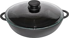 Cast Iron Wok Pan for Healthy Cooking 26 cm with