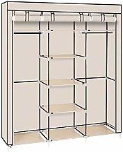 CASTAIN Canvas Wardrobe Bedroom Furniture Cupboard