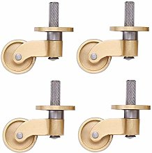 Casters 4x25Mm Brass Universal, 180Kg Load