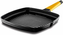 Castey Grill Frying Pan with Removable Handle, 27