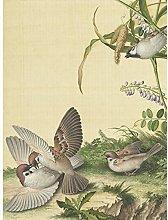 Castiglione Wisteria Plant Birds Painting Large