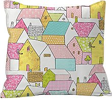 Castilla Textile Alberta Houses – Cushion,