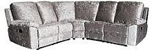 Castille Fabric Manual Recliner Corner Group Sofa