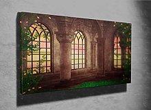 Castle Fantasy Beautiful Photo Canvas Print
