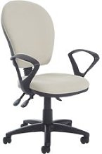 Castle High Back Operator Chair With Fixed Arms,