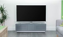 Castle LCD TV Stand In Grey With Two Glass Door