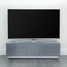Castle LCD TV Stand Medium In Grey With Glass Door