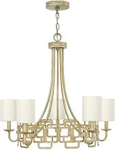 Castleford 5-Light Shaded Chandelier Canora Grey