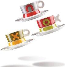 Castor 3 Piece Coffee Cup Set Happy Larry