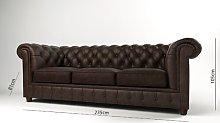 Castorena 3 Seater Chesterfield Sofa Astoria Grand