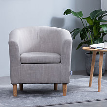Casual Fabric Linen Tub Chair Armchair Bucket Seat