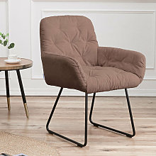 Casual Linen Padded Armchair, Coffee
