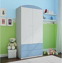 Caswell 2 Door Wardrobe Zipcode Design Colour: Blue