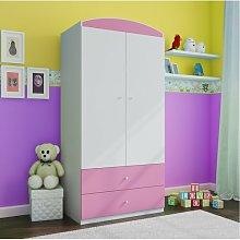 Caswell 2 Door Wardrobe Zipcode Design Colour: Pink