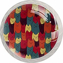 Cat Animal Drawer Pulls and Knobs Crystal Knobs