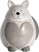 Cat Cookie Jar Biscuit Barrel with Lid, Ceramic