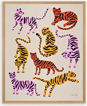 Cat Coquillette - 'Pink Yellow Tigers'
