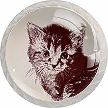 Cat Drawer Knobs Pulls Cabinet Handle for Kitchen