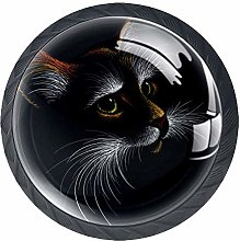 Cat for Tattoo 4pcs Colorful Crystal Glass