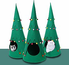 Cat Nest Bed Indoor Christmas Tree Pet House