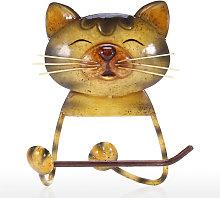 Cat Paper Towel Holder Vintage Cast Iron Dog
