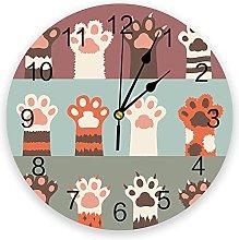 Cat Paw Animal Cartoon Modern Wall Clock For Home