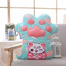 Cat Paw Shape Lazy Sofa Office Seat Cushion,Long