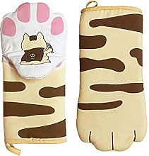 Cat Paws Oven Gloves Anti Scalding Gloves Cooking