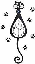 Cat Pendulum Wall Clock 3d Wall Clock Wood With