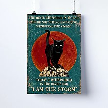 Cat Poster, Cat Print, I Am The Storm Canvas