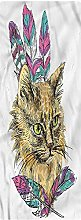 Cat Runner Rug, 2'x6', Cat with Colorful