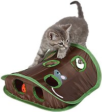 Cat Toys, 9 Holes Interactive Indoor Mouse Hunt