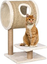 Cat Tree with Tunnel and Scratching Post 69 cm