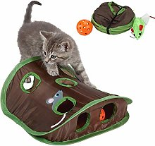 Cat Tunnel Toy,Collapsible Pet Play Tunnel Tent