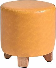 catch-L Solid Wood Small Stool Leather Stool