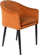 Catelyn Orange Armchair