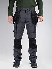 CATERPILLAR Grey Knee Pocket Work Trousers - W38