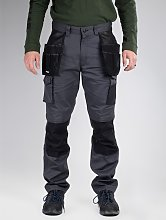 CATERPILLAR Grey Knee Pocket Work Trousers - W40
